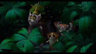 Madagaskar - fossy i król Julian (Madagascar - the fossa and King Julian) - Polish language