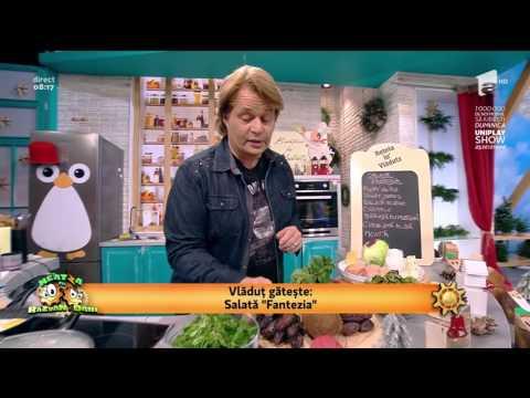 """Salată """"Fantezia"""" - cu trei tipuri de salată și piept de pui"""