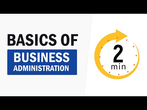 Business Administration in 2 Minutes | Start a Business with proper Business Administration Process