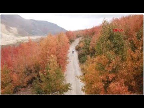 Nemrut, sonbaharla birlikte pastel renklere büründü