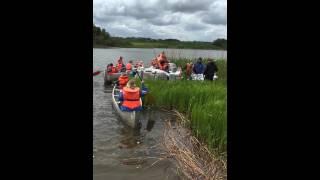 FDF BRÆDSTRUP båd af ca. 3000 mælkekartoner søsat på Ring sø 31/5. Slutning