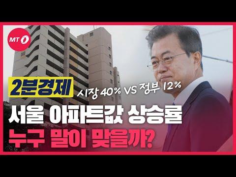 [2분경제]'시장 40% vs 정부 12%' 서울 아파트값 상승률 누구 말이 맞나