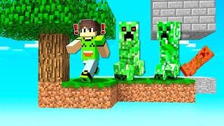 Building A Minecraft SKY BLOCK MOB GRINDER! (Gone WRONG)