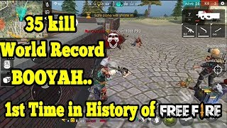 35 kill wrorld Record in Free Fire    Best Game play in history of free fire   Run Gaming