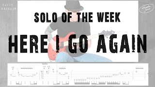 Solo Of The Week: 42 Whitesnake - Here I Go Again