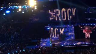 WWE RAW 2/20/17 Off Air The Rock live entrance