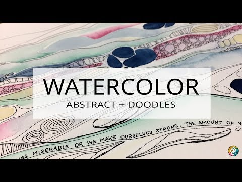 watercolor painting: abstract + doodles