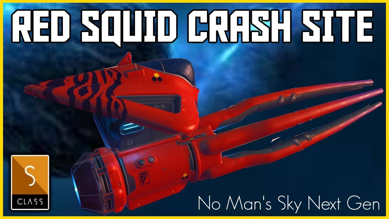 Manic Miners - No Man's Sky Origins - Crashed Red Exotic S Class Squid Ship - Finding Exotic Ships in No Sky 2020