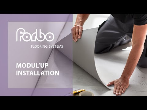 Installing Modul'up adhesive free vinyl in 3 easy steps