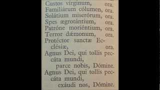 Litany of Saint Joseph in Latin