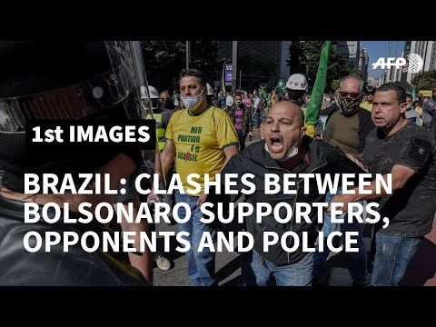 Clashes between Bolsonaro's supporters, opponents and police in Sao Paulo | AFP