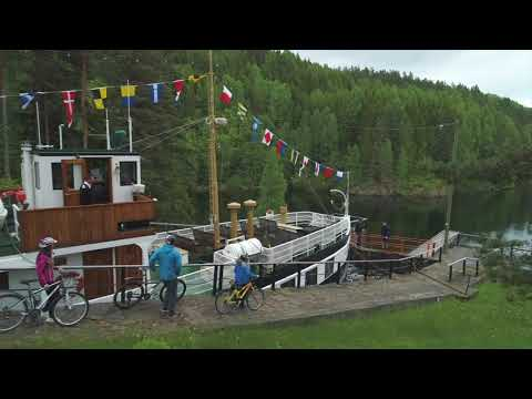 Postkort fra sykling ved Telemarkskanalen - cycling postcard from The Telemark Canal
