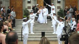 Video - Beautiful Navy Wedding Arch of Swords - Nick & Melanie Sword Arch