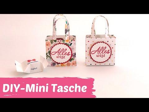DIY-Mini Tasche als Geschenkverpackung-Basteln gegen Langeweile