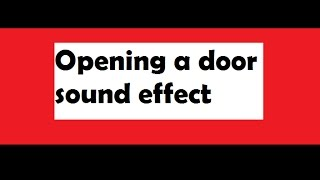 Oppening a door (turn a handle #1) || Sound Effect