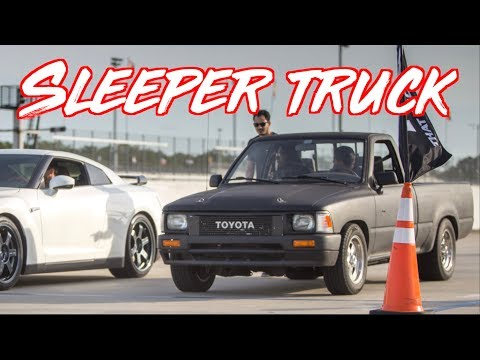 Sleeper Toyota Pickup Truck SURPRISES EVERYONE! McLaren 720s - GTR - 300zx