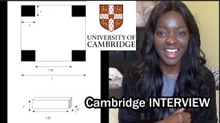 Cambridge Interview PART 2   Maths Questions Included