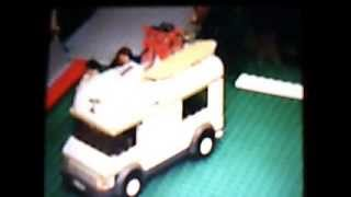 Building the LEGO Camper fast motion