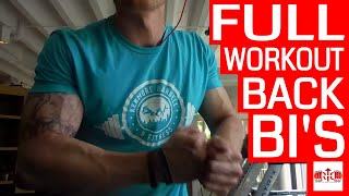 Effective Apartment or Hotel Back & Bicep Workout | Grant Eilertson | Raise The Bar Training