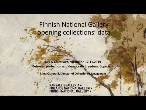 """Riitta Ojanperä: The Finnish National Gallery's open collections data, 12 November (""""Open GLAM now"""")"""