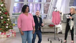 NYDJ Pullover 3/4-Sleeve Pintuck Blouse on QVC