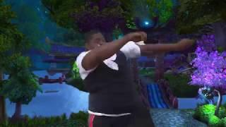 fat black guy dancing to wow