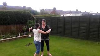 Bethany & Imogen dancing to Hungry Eyes.