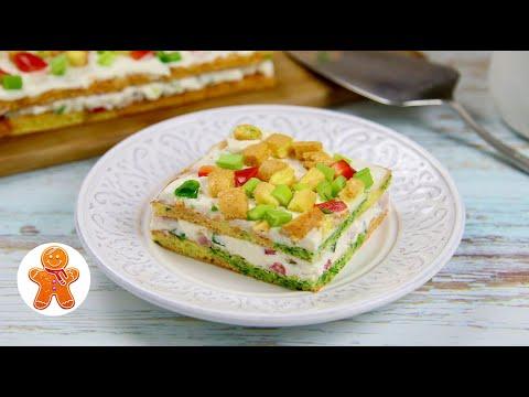 Цветные Закусочные Пирожные ✧ Яркая Закуска на Праздничный Стол