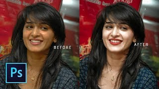 Photoshop cc Tutorial: WITHOUT PLUGIN retouch your girls photo width=