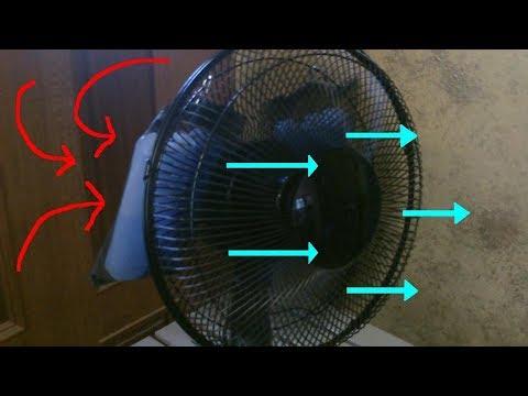 Simple DIY AC Space Cooler! - Desk Fan w/ice-packs! - ez DIY - fan conversion