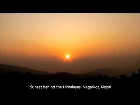 Sunset behind the Himalayas, Nagarkot, Nepal