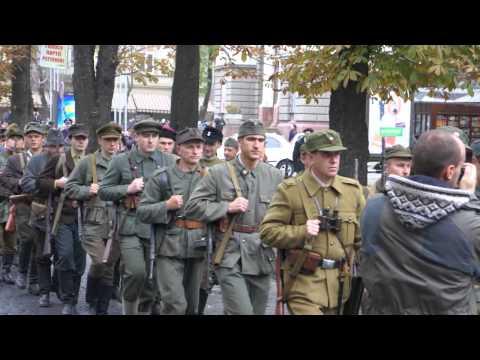 Вулицями Львова-марш Української Повстанської Армії