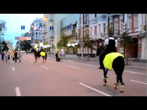 Конная милиция накануне матча Украина – Швеция, Евро-2012