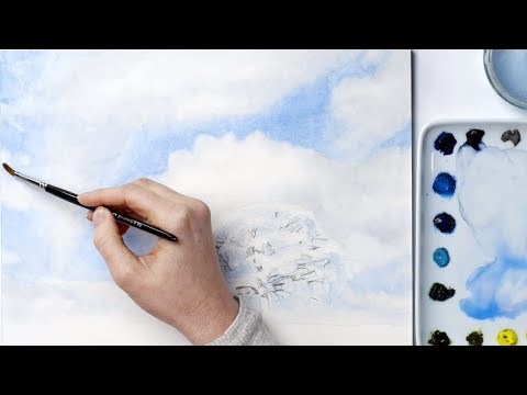 How to paint stress-free skies in watercolour with Anna Mason