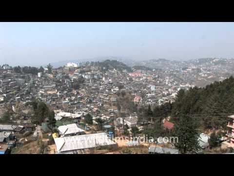 Entire view of Kohima from Cathedral