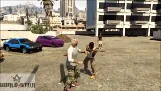 GTA 5 - World Star!! Fight At Car MeeT