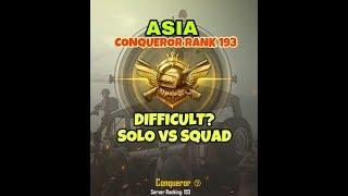 CONQUEROR SOLO VS SQUAD | How difficult is Conqueror TIER?