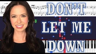The Chainsmokers (Joy Williams Cover) - Don't Let Me Down - Piano Tutorial