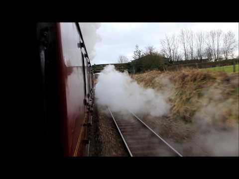 60009 UoSA Leaving Appleby   Winter Cumbrian Mountain express   16th Feb 2013