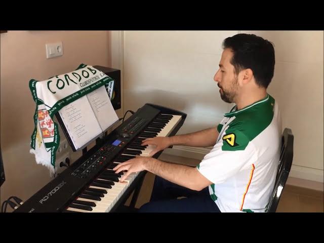 alberto de paz toca el himno del cordoba con el piano