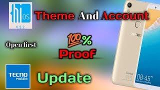 Tecon Camon Update and Hios Account , theme. टेकनो खाता कैसे खोलें ? width=
