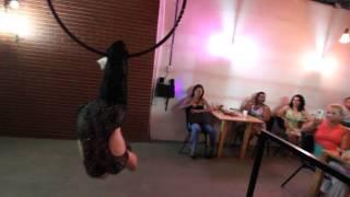 NUT CAFÉ E ARTE - Bruna Gama - Lira - Aerial Hoop - 1º Encontro de Cultura e Arte
