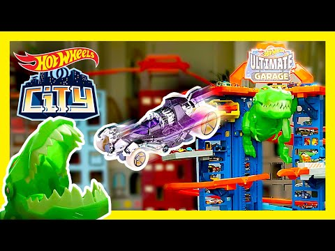 T-REX INVASION AT THE ULTIMATE GARAGE! 💥 | Hot Wheels City | @Hot Wheels​