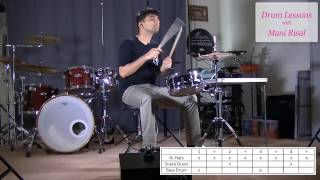 Beginner Drum Lesson - How to play Billie Jean by Michael Jackson