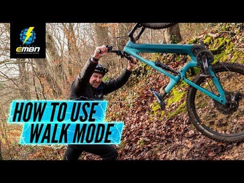How To Use Walk Mode On An E MTB | Electric Bike Walk Assist Explained