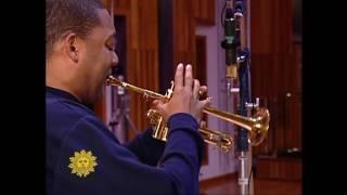 """Wynton Marsalis recording """"Abblasen"""" for CBS Sunday Morning"""