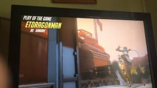Ohhh shiny junkrat play of the match(overwatch comp)
