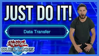 [DUEL LINKS] THE THING EVERY DUEL LINKS PLAYER MUST DO | DATA TRANSFER TUTORIAL