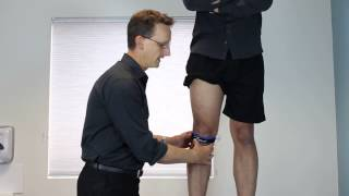 How to put on a knee patella strap brace for sport my Physio SA Adelaide Physiotherapist