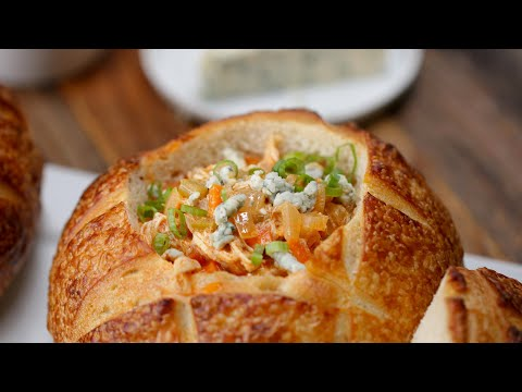 Hearty Buffalo Chicken Soup With Blue Cheese And Scallions ? Tasty